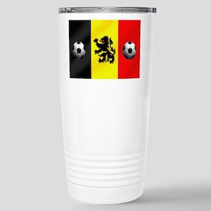 Belgian Football Flag Travel Mug