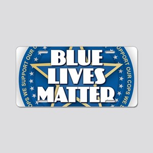 Blue Lives Matter - Stars Aluminum License Plate