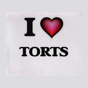 I love Torts Throw Blanket