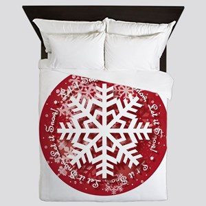 Let It Snow Design Queen Duvet
