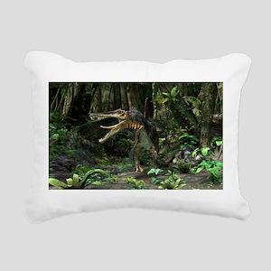 Dinosaur Spinosaurus Rectangular Canvas Pillow