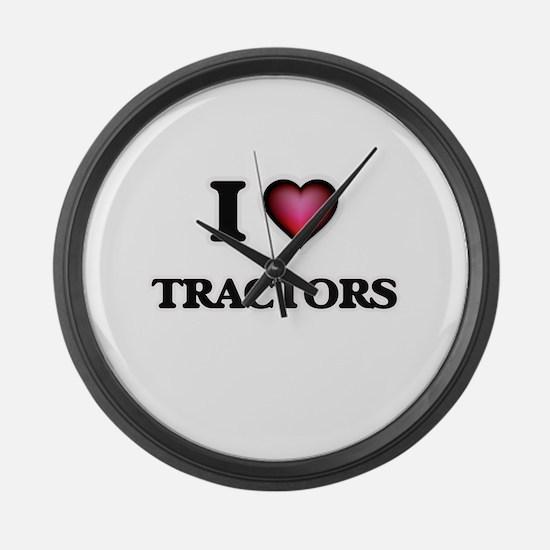 I love Tractors Large Wall Clock