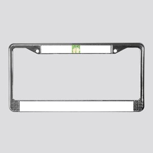 Green Grapes & Pedicure License Plate Frame