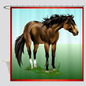 BUCKSKIN HORSE Shower Curtain