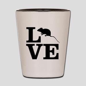 i love rats Shot Glass