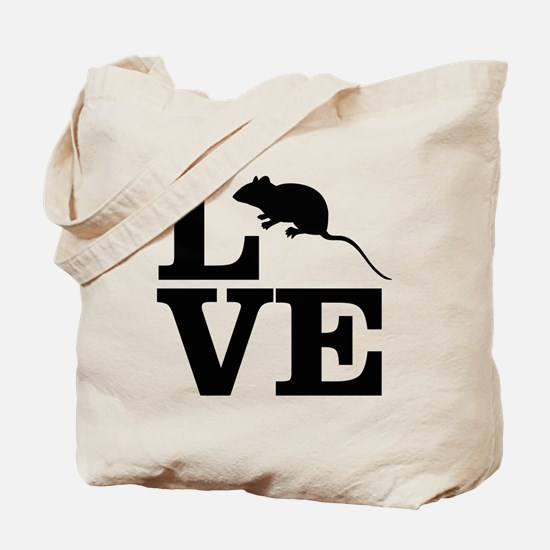 i love rats Tote Bag