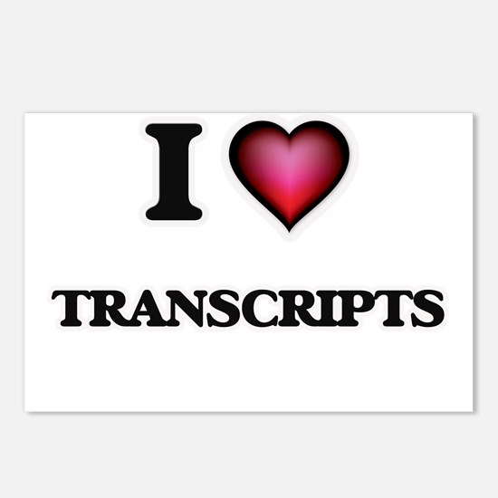 I love Transcripts Postcards (Package of 8)