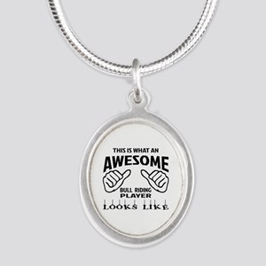 This is what an awesome Bull Silver Oval Necklace