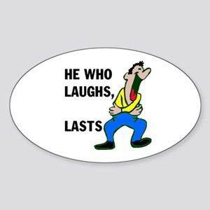 LAUGHTER Oval Sticker