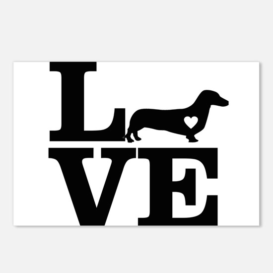 i love Dachshund Postcards (Package of 8)