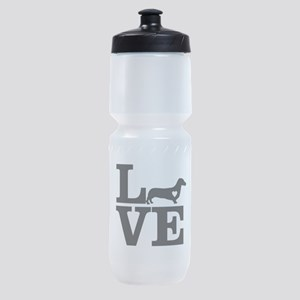 i love Dachshund Sports Bottle