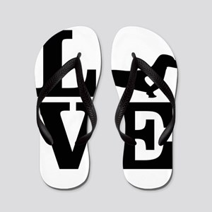 i love Dachshund Flip Flops