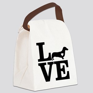 i love Dachshund Canvas Lunch Bag