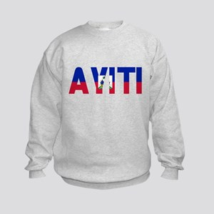 AYITI FLAG CREOLE Kids Sweatshirt