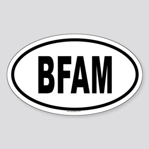 BFAM Oval Sticker