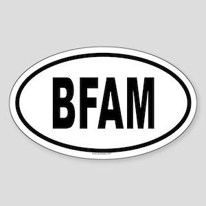 BFAM Oval Sticker