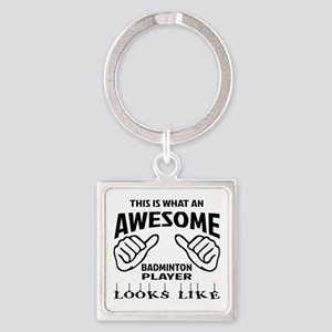 This is what an awesome Badminton Square Keychain