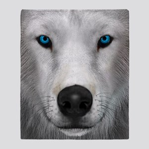 Arctic Wolf Throw Blanket