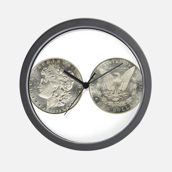 Morgan Dollars Wall Clock