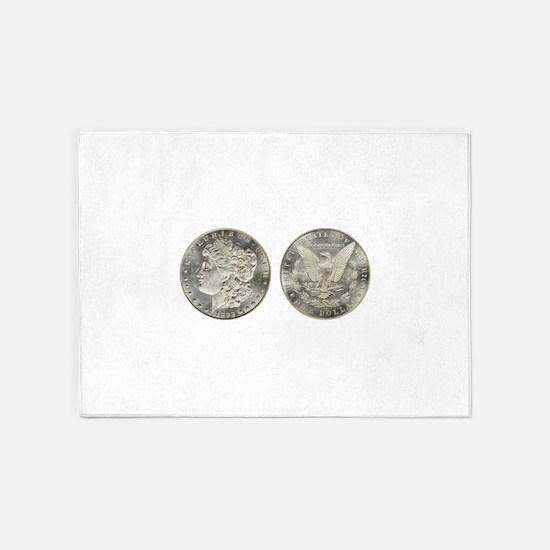 Morgan Dollars 5'x7'Area Rug