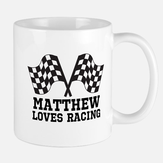 Personalized Racing Rally Flags Mugs