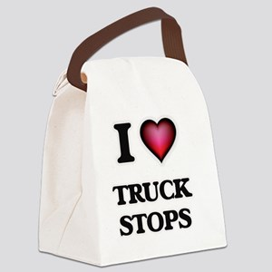 I love Truck Stops Canvas Lunch Bag