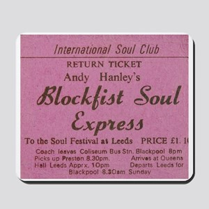 NORTHERN SOUL- BLOCK FIST Mousepad