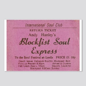 NORTHERN SOUL- BLOCK FIST Postcards (Package of 8)