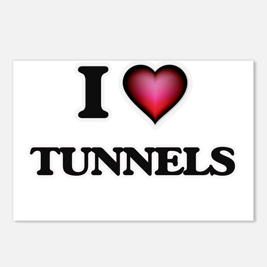I love Tunnels Postcards (Package of 8)