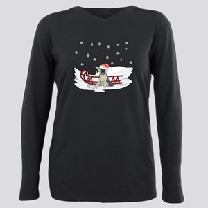 Sledding German Shepard T-Shirt