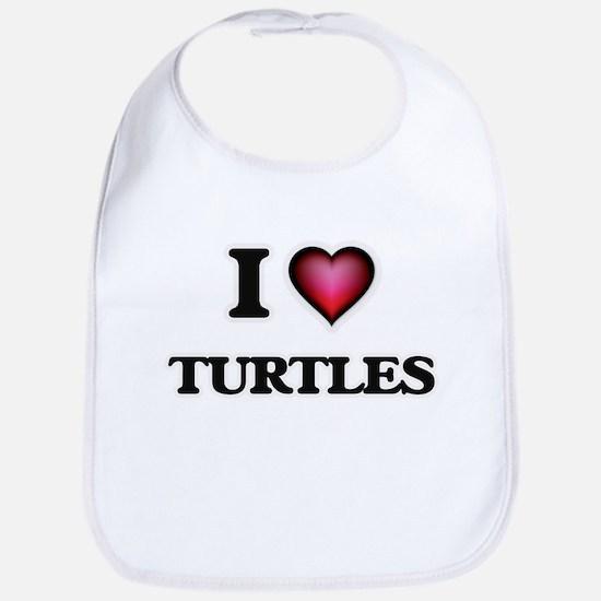 I love Turtles Baby Bib