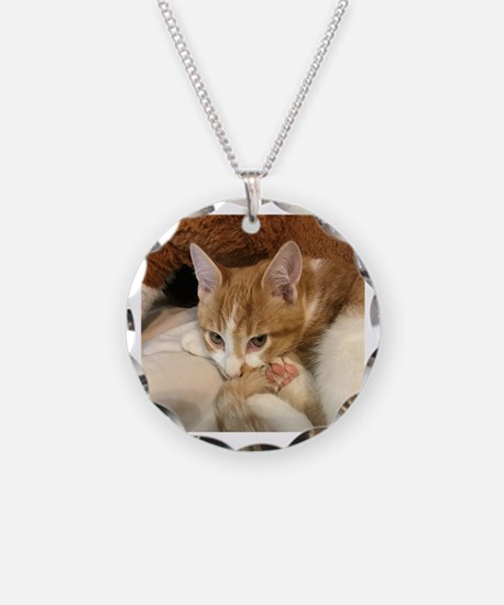 Unique Orange tabby cat Necklace