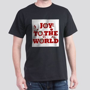 Joy To The World Ash Grey Christmas T-Shirt