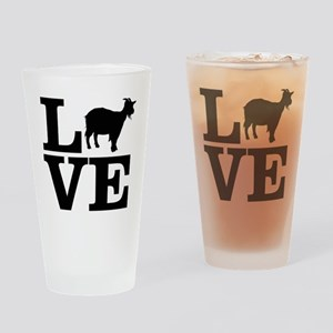 i love goats Drinking Glass