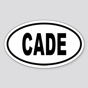 CADE Oval Sticker