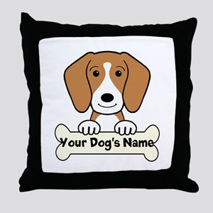 Personalized Beagle Throw Pillow
