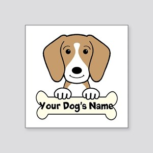 "Personalized Beagle Square Sticker 3"" X 3&quo"
