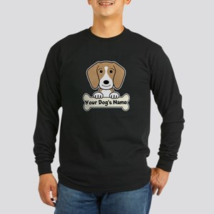 Personalized Beagle Long Sleeve Dark T-Shirt