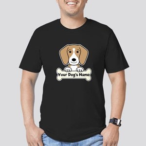 Personalized Beagle Men's Fitted T-Shirt (dark)