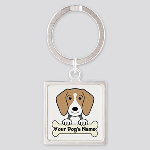 Personalized Beagle Square Keychain