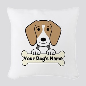 Personalized Beagle Woven Throw Pillow