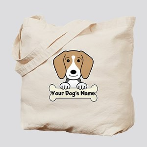 Personalized Beagle Tote Bag
