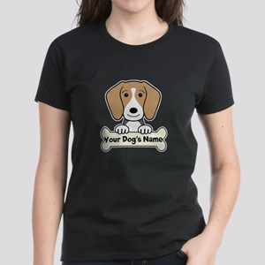 Personalized Beagle Women's Dark T-Shirt