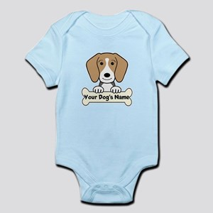 Personalized Beagle Infant Bodysuit