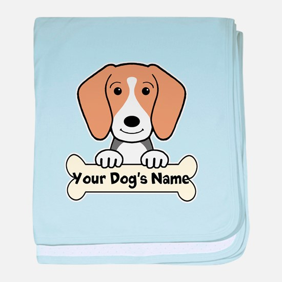 Personalized Beagle baby blanket