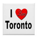 I Love Toronto Tile Coaster