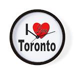 I Love Toronto Wall Clock