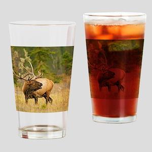 Wapiti Elk Bull2 Drinking Glass