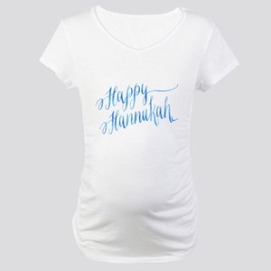 Happy Hannukah Chanukah Hanukkah Maternity T-Shirt