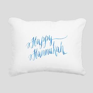 Happy Hannukah Chanukah Rectangular Canvas Pillow